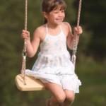 Детские качели для дачи своими руками