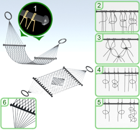 Схема плетения гамака
