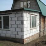 Строительство пристройки к дому из пеноблоков