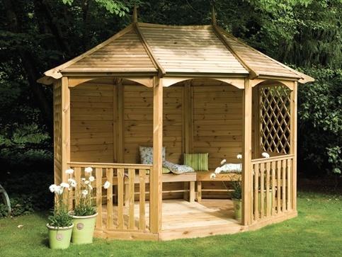 Дизайн участка с деревянным домом