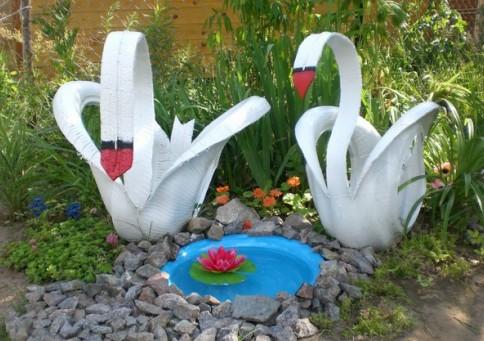 Поделки своими руками из пенопласта для сада