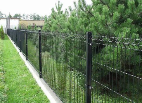 Забор сварная сетка своими руками