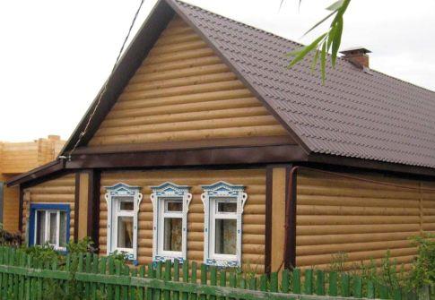 фото домов обшитых сайдингом блок хаус
