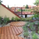 Устройство и оформление террасы на крыше построек