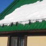 Снегозадержатели на крышу — виды и особенности монтажа