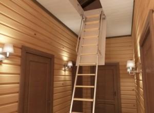 Как сделать лестницу на чердак своими руками на даче фото