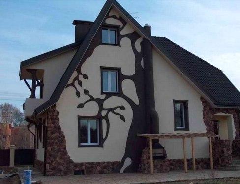 Фасад частного дома фото своими руками