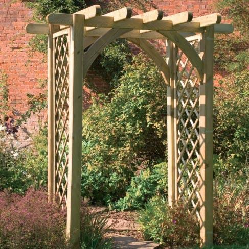Садовая арка для цветов на даче своими руками: мастер 15