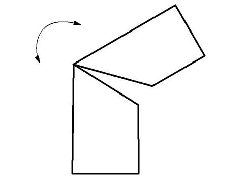 Точка сгиба профильной трубы