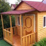 Строим детский игровой домик для дачи своими руками