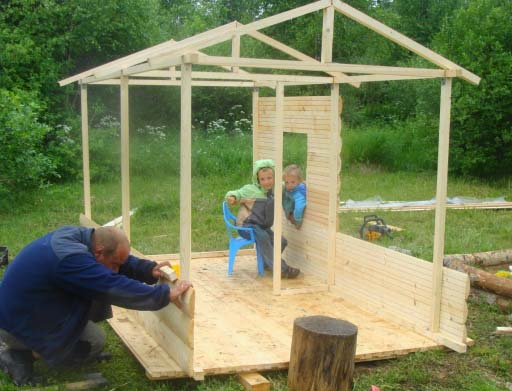 Детский домик в песочницу своими руками