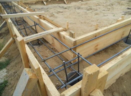 Комбинированный столбчато-ленточный фундамент под баню