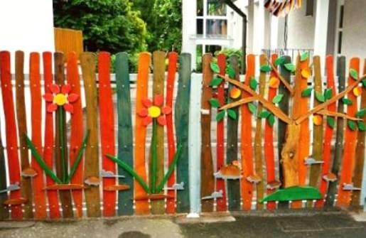 Забор красивый своими руками фото