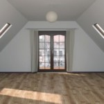 Планировка и интерьер мансарды частного дома