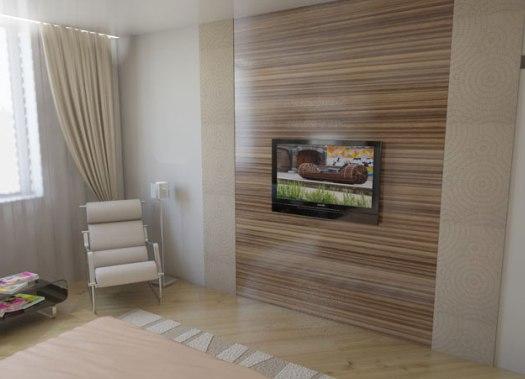 Дизайн на стене ламинат