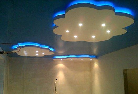 Дизайн потолка из гипсокартона фото детская