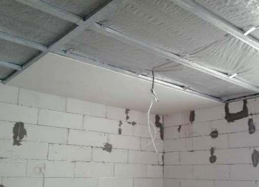 Как делать подвесной потолок из гипсокартона