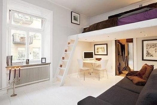 Дизайн гостиной с зонированием спального места