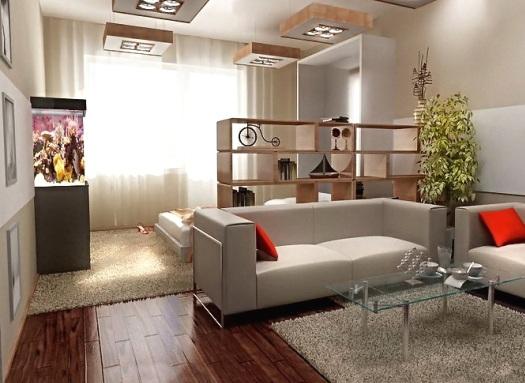 Дизайн зал спальня 18 кв.м фото