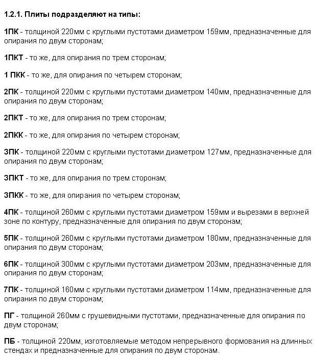 Размеры плит перекрытия расшифровка жби дорожная 13