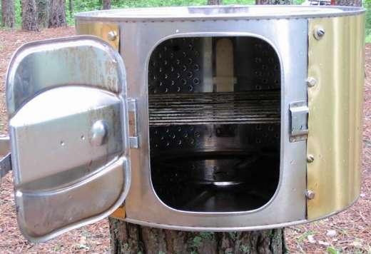 Коптильня своими руками из стиральной машины фото