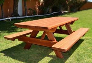 Деревянный стол своими руками на даче фото