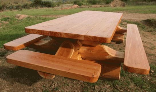 Стол и скамейки из дерева своими руками фото 134