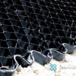 Технология укрепления берега объемной георешеткой