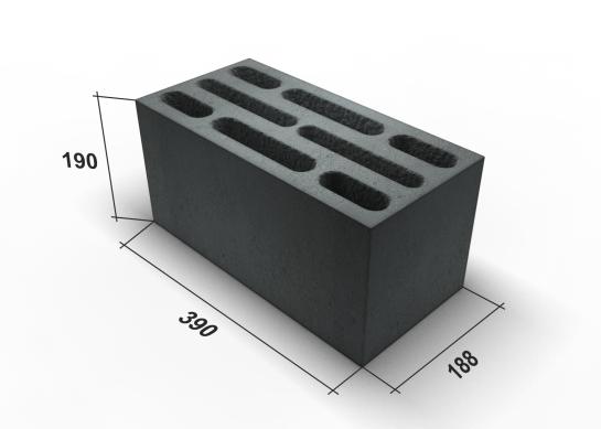 Размеры стандартного стенового керамзитового блока