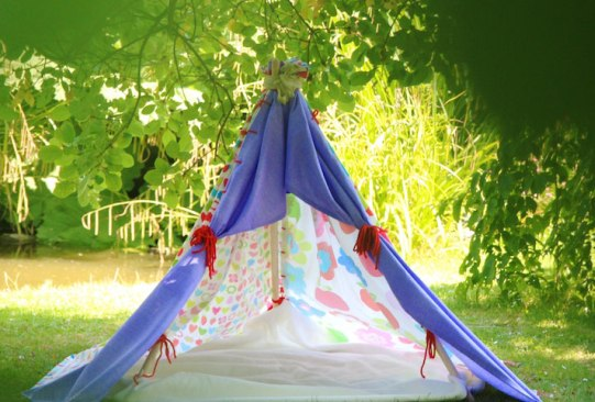 Как сделать палатку на улице своими руками 30