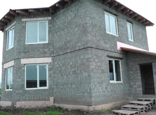 Картинки по запросу фото домов из керамзитоблоков