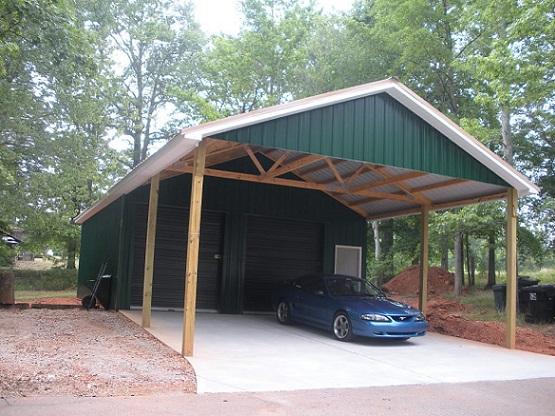 Гараж крыша поликарбоната