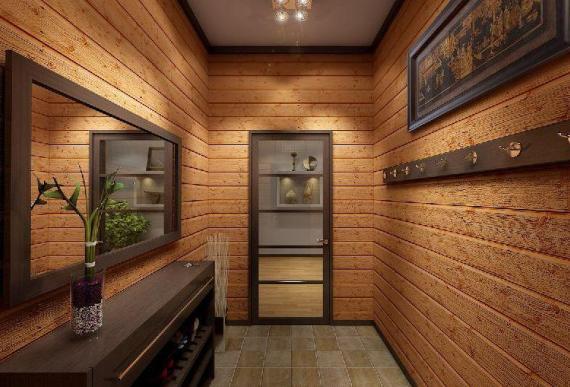 Отделка холодного коридора в частном доме