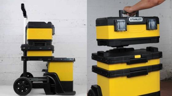 Ящик STANLEY Rolling Workshop 1-95-621 с отделяемой верхней и выдвижными средней и нижней секциями
