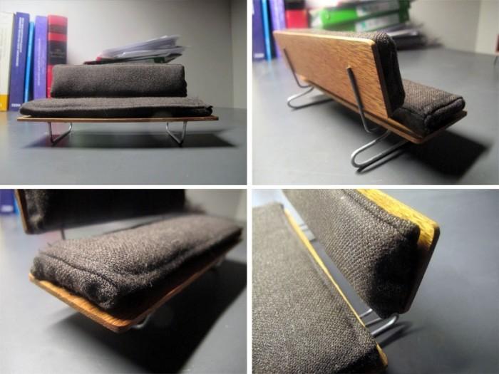 Фото №6 Модель дивана с металлическим каркасом, деревянной спинкой и ложем