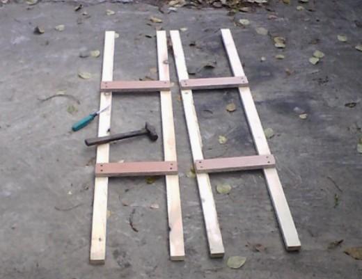 Фото №8 Опорные рамы стеллажа (молоток – хорошо, а шуруповерт – лучше!)