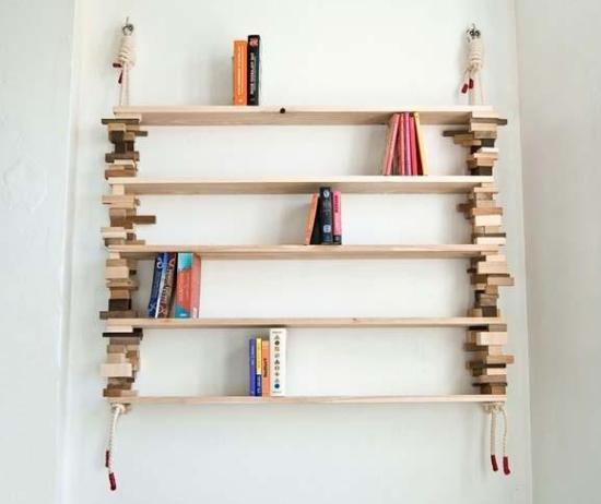 Стеллаж своими руками из дерева для книг
