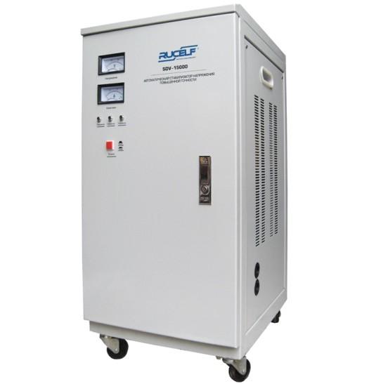 Стабилизатор напряжения RUCELF SDV-15000 сервоприводного типа