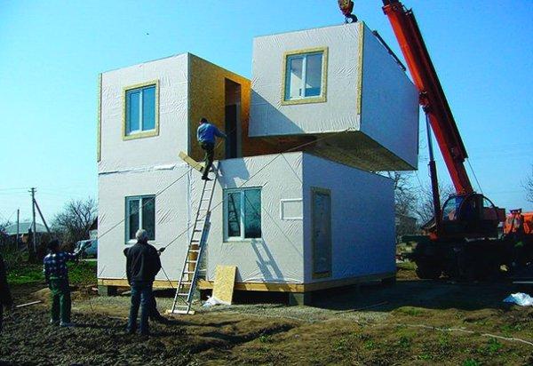Монтаж модульного дома