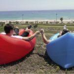 Lamzac Hangout (Ламзак) – надувной шезлонг, кресло-диван и гамак в одной вещи!