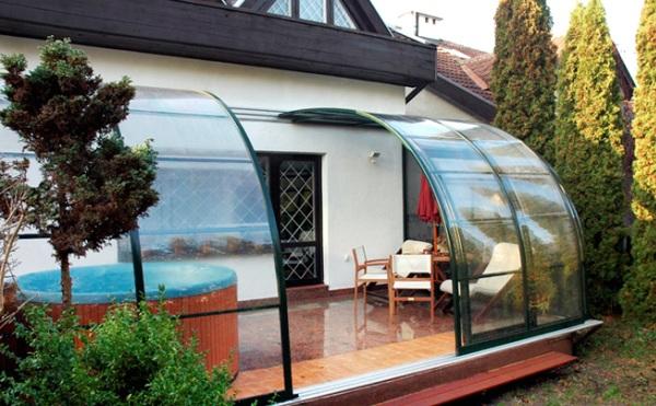 Крыша из поликарбоната для террасы