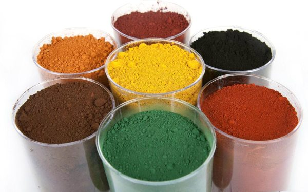 Пигменты для окраски бетона