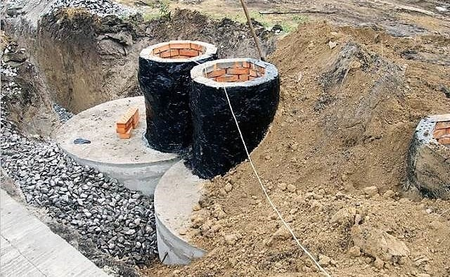 Септик из железобетонных колец. Под ключ. Строительная компания КРОСТ город Красноярск
