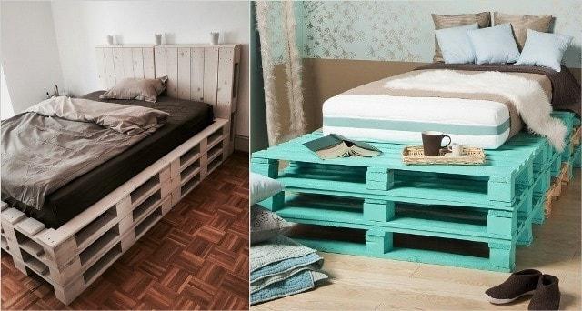 Навесная кровать из поддонов