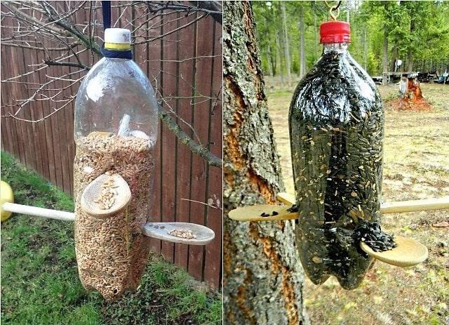 Как сделать кормушку из 5 литровой бутылки своими руками 58