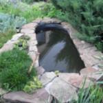 Мини пруд на даче из старой ванны