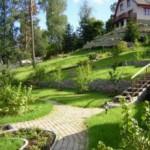 Планировка садового участка на склоне