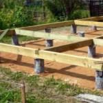 Виды и особенности строительства столбчатых фундаментов