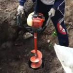 Мотобуры (бензобуры) для земляных работ — эксплуатация и разновидности