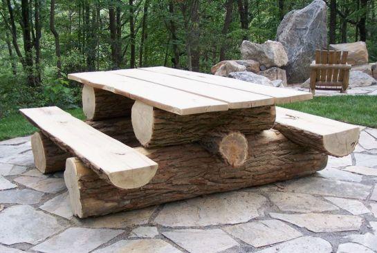 Фото скамеек из дерева своими руками